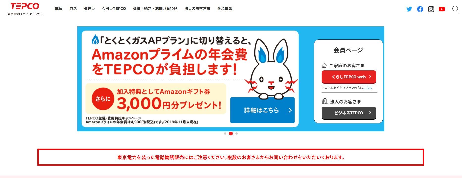 東京電力の企業情報